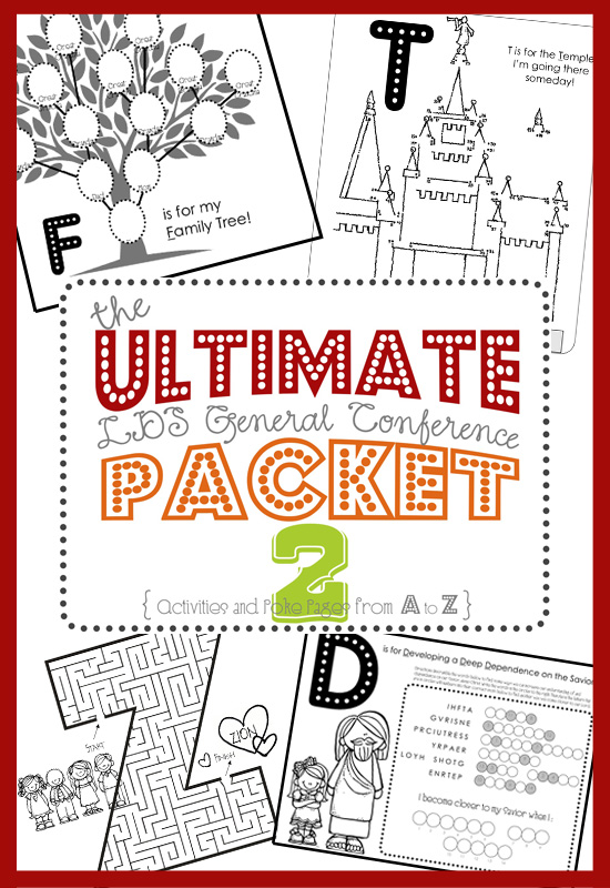 Ultimate LDS General Conference Activity Packet