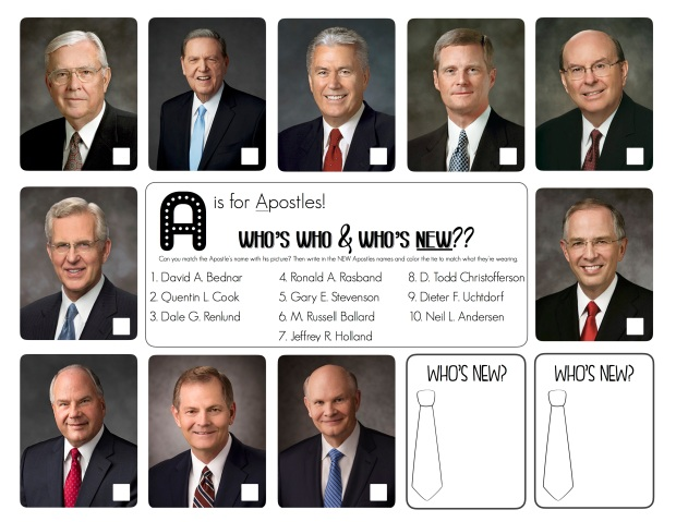 A is for Apostles- Update